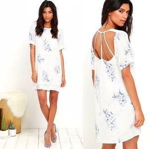 (Lulu's) Gentle Fawn Outlines Ivory Floral Dress